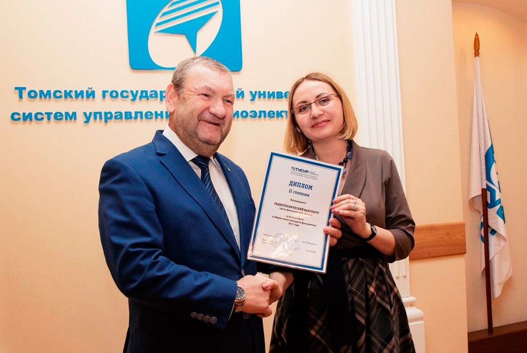 Декан радиотехнического факультета К. Ю. Попова