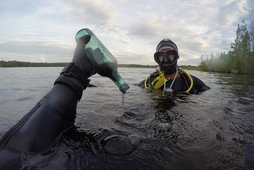 Дайверы ТУСУРа завершили первый этап экологического десанта