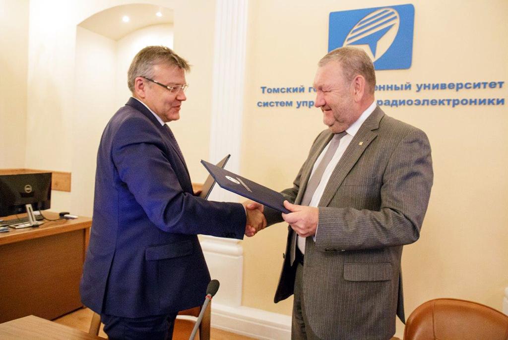 Первые точки взаимодействия: ТУСУР иРЖД подписали соглашение осотрудничестве