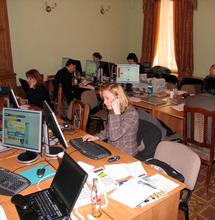 Пресс-центр в Гостиной Дома учёных. Саммит 2006 г.