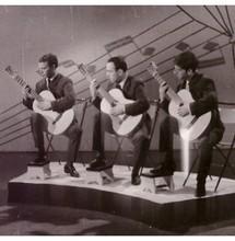 Трио гитаристов, 1966 г. Фотоархив Дома учёных