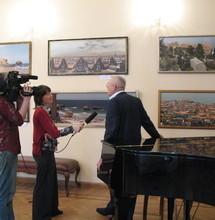 Открытие выставки фотографии на холсте В. Галилейского, 2008 г. Фотоархив Дома учёных