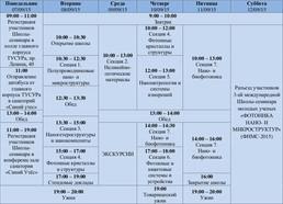Программа Школы семинара ФНМС 2015