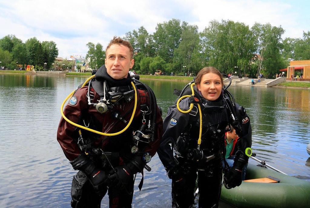 Аквалангисты ТУСУРа обнаружили на дне Белого озера боевую гранату