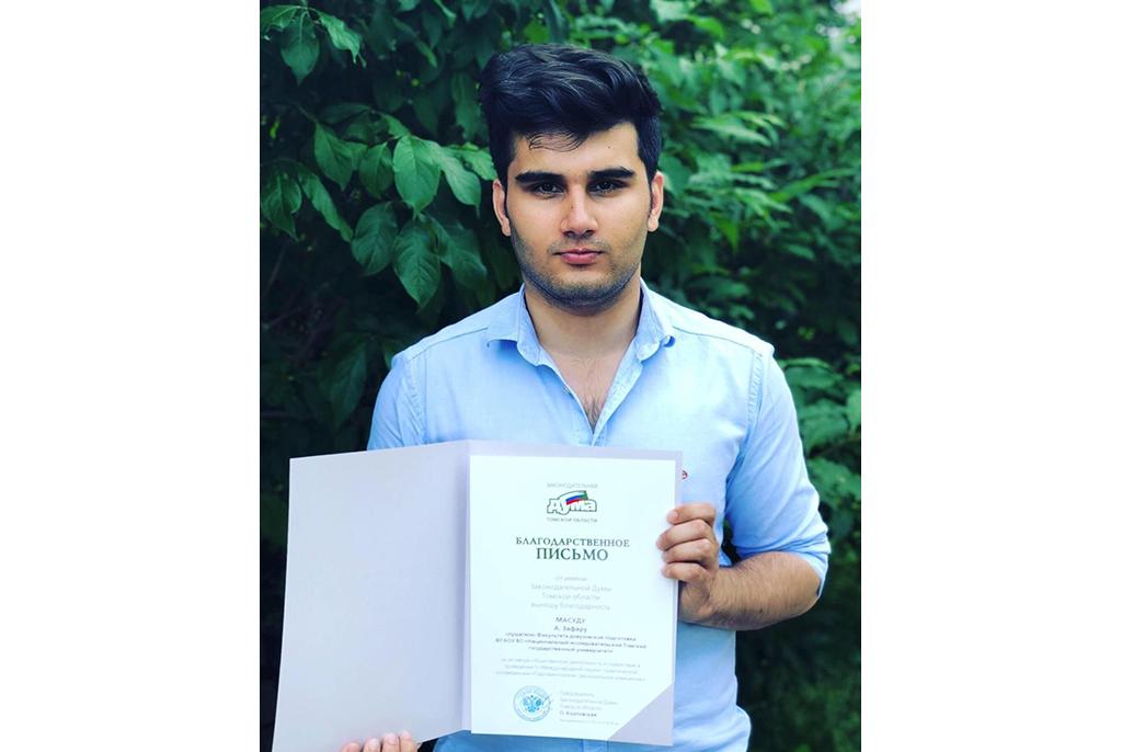 Первым студентом ТУСУРа в кампании 2019 года стал абитуриент из Афганистана