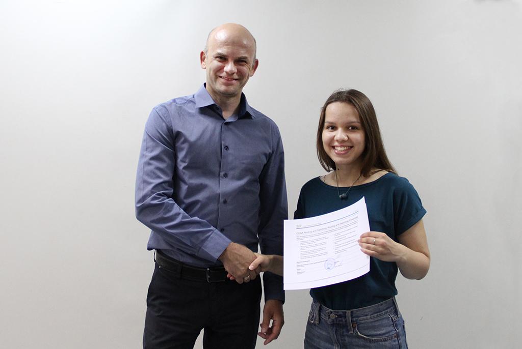 В Сетевой академии Cisco ТУСУРа состоялось торжественное вручение международных сертификатов Cisco студентам групп 435-1 и 435-3 кафедры АСУ
