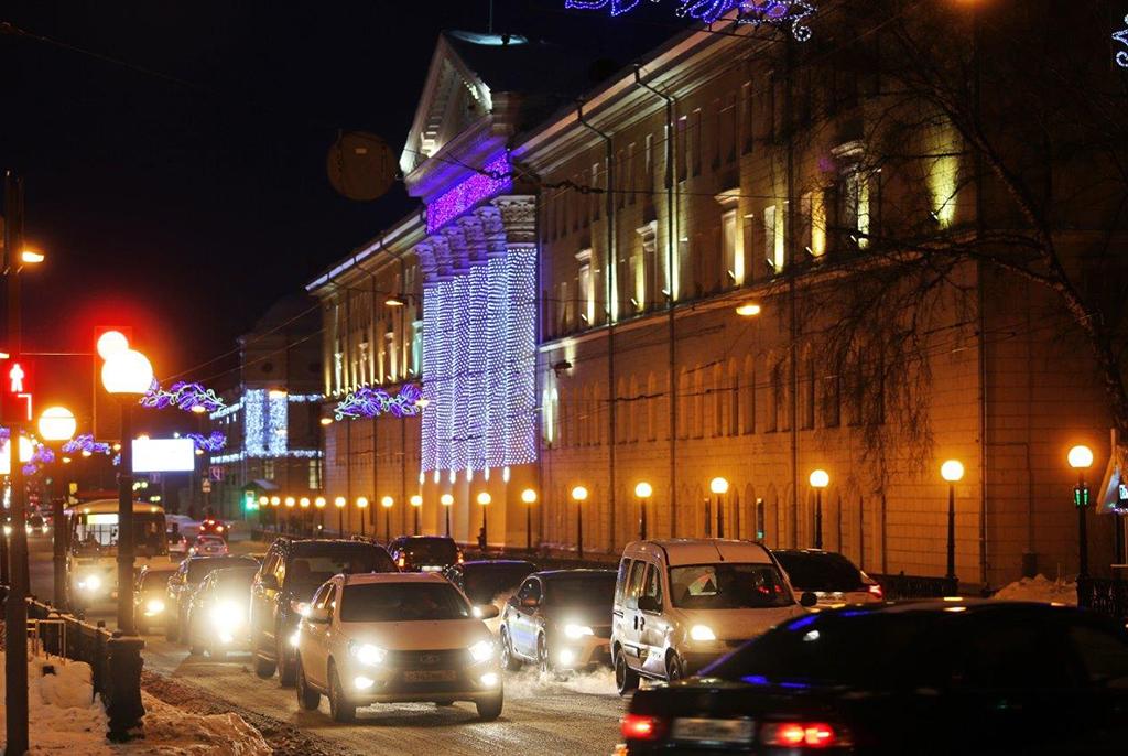 Главный новогодний: корпус ТУСУРа – победитель конкурса «Зимний Томск»
