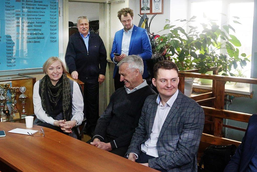ТУСУР посетили первые лица Федерации гребного спорта России