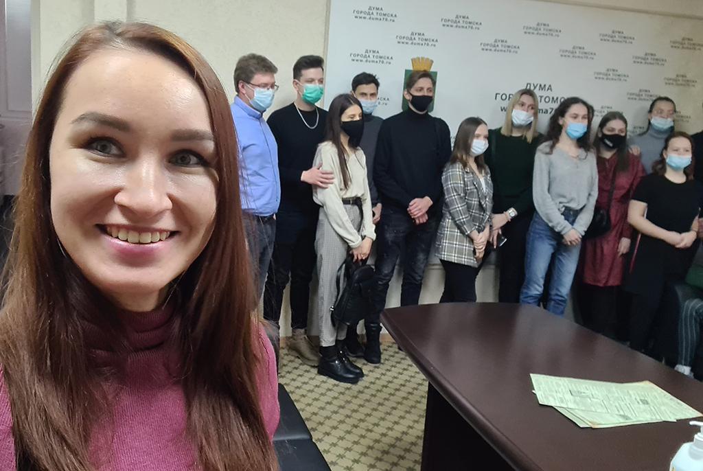 Студенты ТУСУРа посетили Думу города Томска