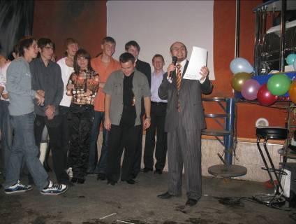 Посвящение первокурсников кафедры СВЧиКР