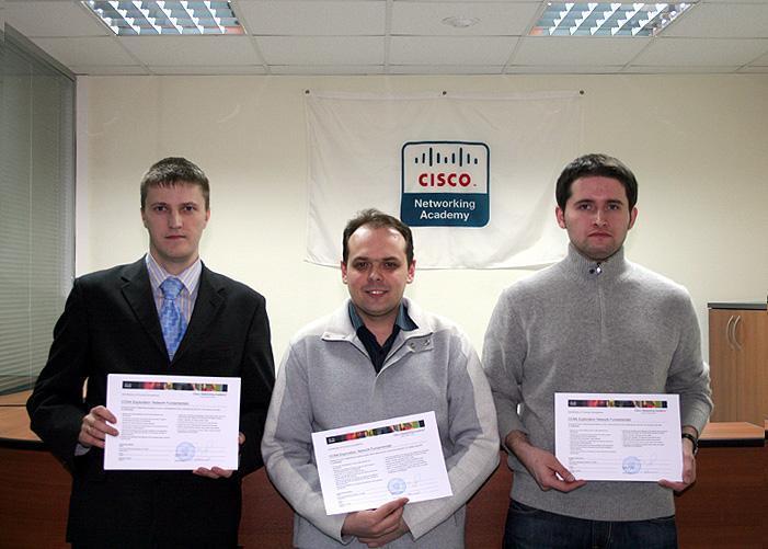Первый в2010 году выпуск вЛокальной сетевой академии Cisco