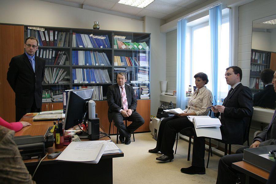 Руководитель аудита А. П. Шалаев проводит проверку ЮФ ИИ