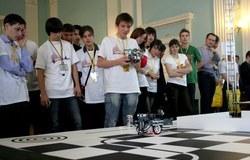 27мая врамках молодёжной программы XIVТомского инновационного форума прошли соревнования пообщей робототехнике икиберфутболу