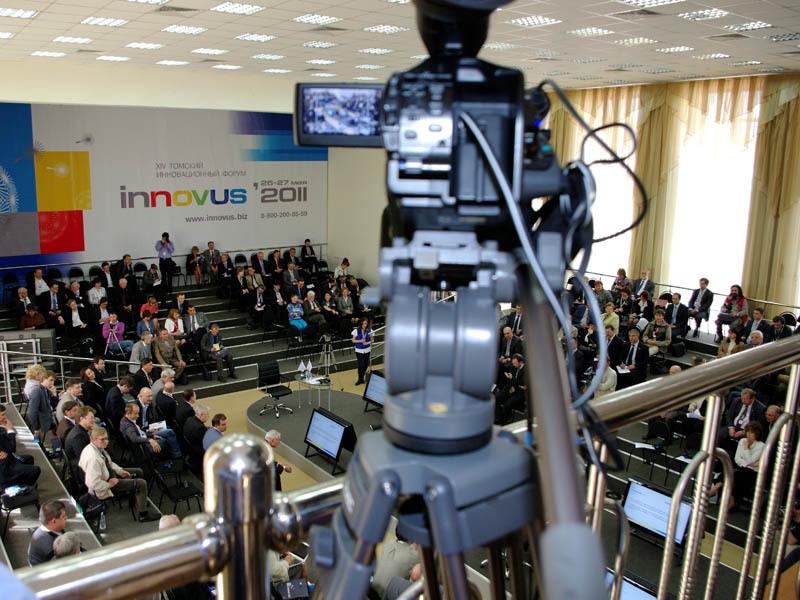 Мультимедийная лаборатория ЦТТобеспечила видеотрансляцию ключевых дискуссионных клубов икруглых столов XIVТомского инновационного форума INNOVUS – 2011