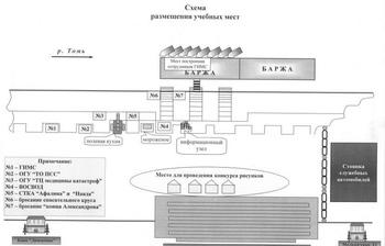 Схема размещения учебных мест