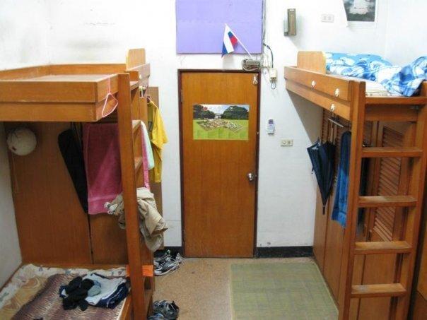 Комната Андрея в общежитии Тайваньского университета