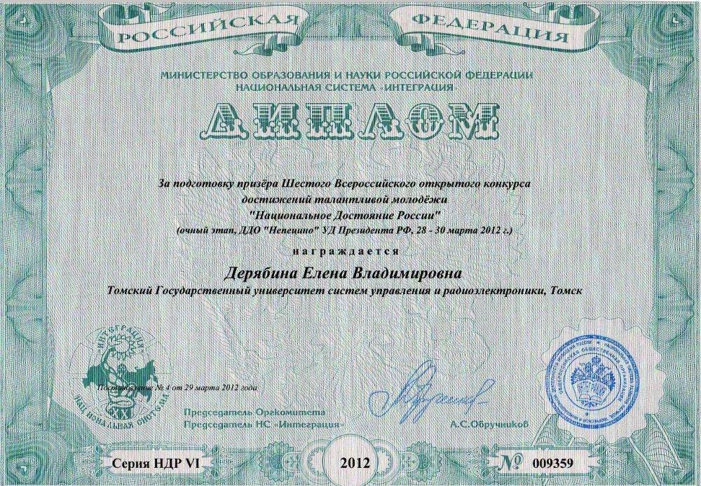 Студентки ТУСУРа, участвовавшие вконкурсе «Национальное достояние России», получили диплом IIстепени