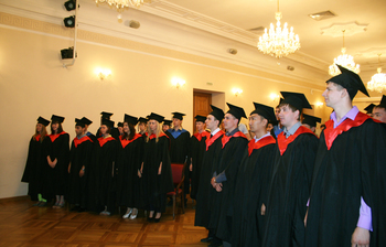 Состоялась торжественная церемония посвящения вспециалисты выпускников Института инноватики