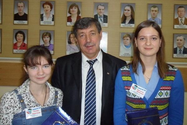 Анастасия Лосева и Мария Цвига с Ю. П. Ехлаковым