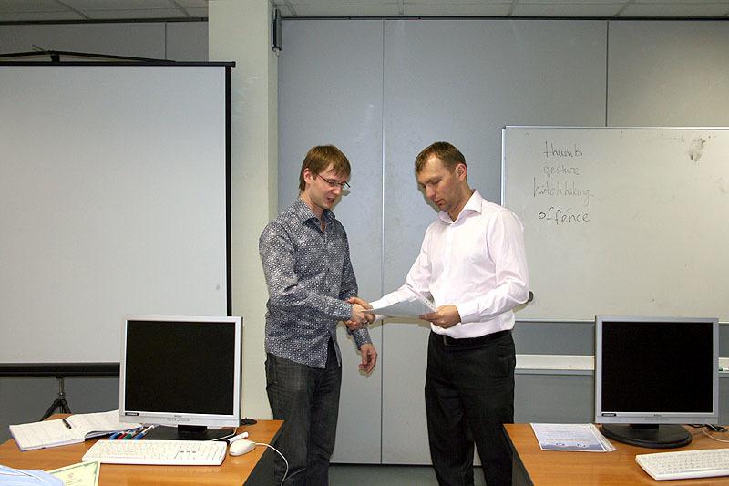 29апреля состоялось вручение сертификатов выпускникам курсов Центра международной IT-подготовки ТУСУРа