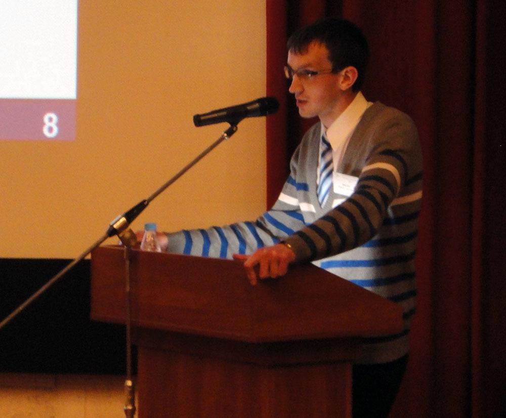 Студент кафедры ФЭпринял участие вXI Международной конференции «Плёнки ипокрытия – 2013»