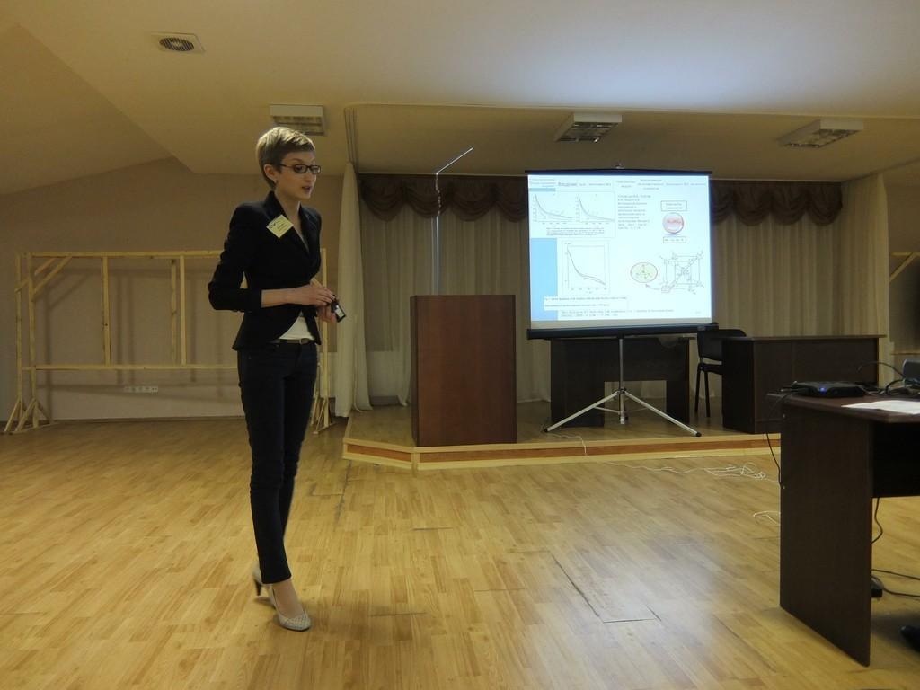 Студентка кафедры ЭПвыступила сдокладом наXIV Всероссийской школе-семинаре «Физика иприменение микроволн»
