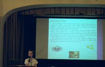 Аспирантка кафедры РЭТЭМ Марина Литвинова выступила сдокладом наIII Межуниверситетском технологическом диалоге