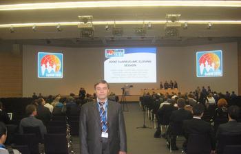 Профессор кафедры КСУП выступил сдокладом наXVI Европейской микроволновой неделе 2013