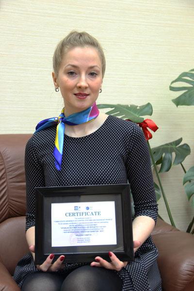ТУСУР былудостоен сертификата заценный вклад вмеждународную образовательную деятельность иучастие вXVI Международной образовательной выставке вУлан-Баторе