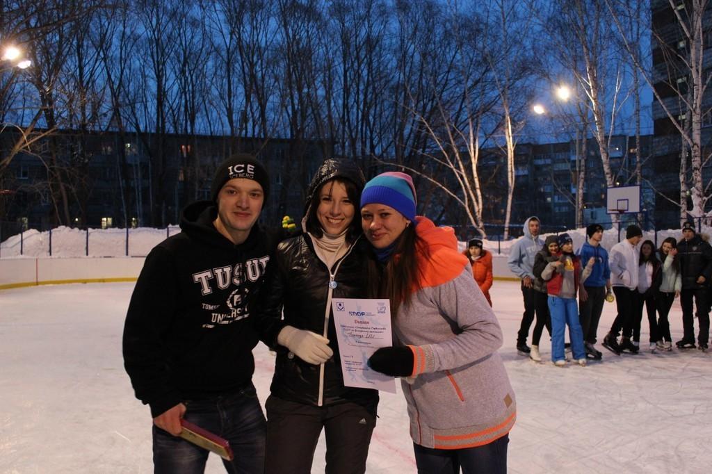 13марта накатке ТУСУРа состоялось открытое первенство пофигурному катанию среди факультетов