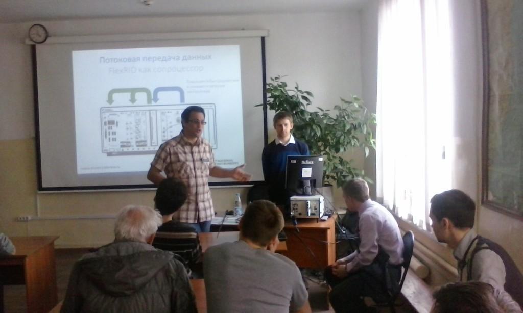 24апреля вНИИ РТСпрошёл научный семинар, организованный компанией National Instruments