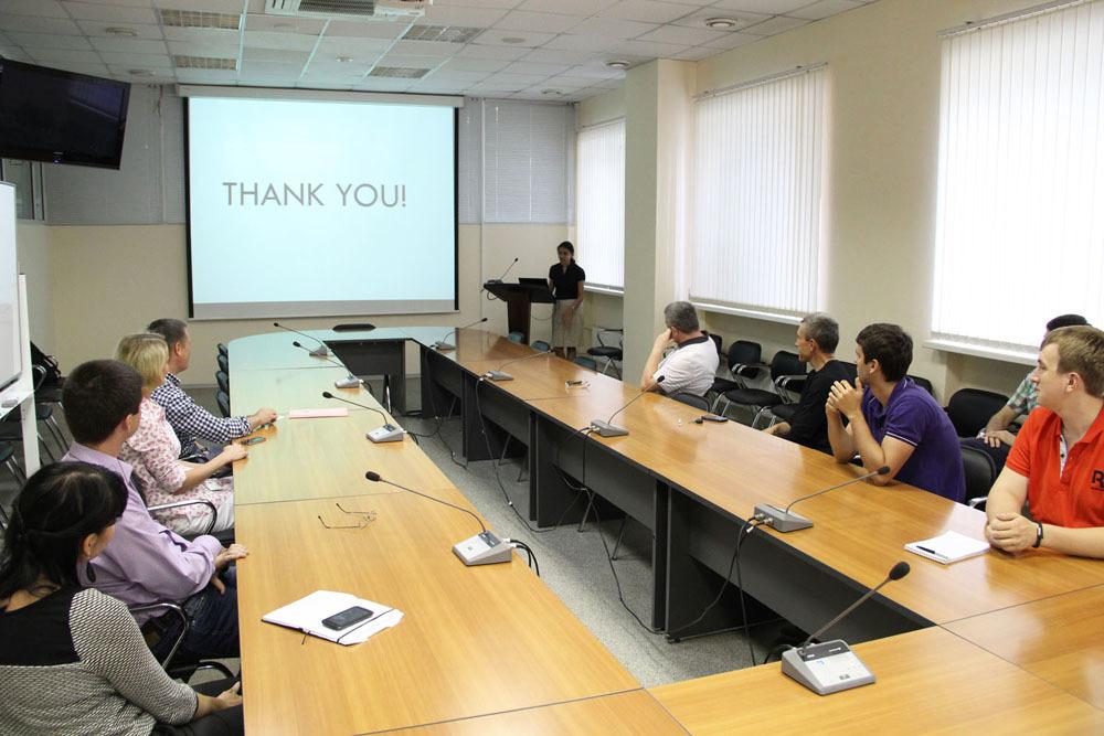 3июля состоялась защита проектов студенток изИндии, проходивших летнюю практику вТУСУРе