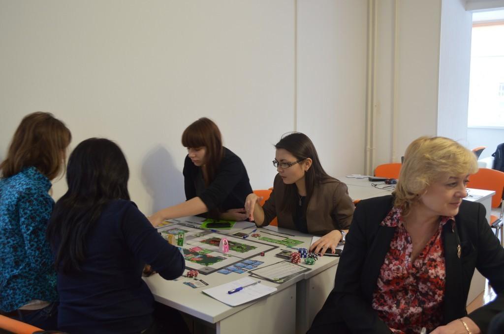 Магистранты Экономического факультета приняли участие втренинге поуправлению проектами сиспользованием игры «FreshBiz»