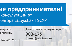 МСБИ «Дружба» ТУСУР проводит бесплатные консультации дляпредпринимателей