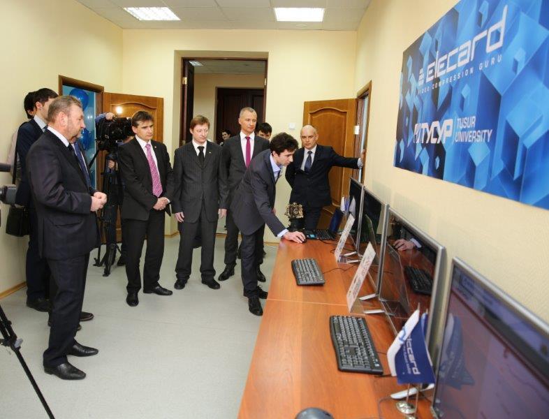 Втехнологическом бизнес-инкубаторе ТУСУР группа компаний «Элекард» открыла совместную свузом учебно-научную лабораторию обработки итрансляции мультимедийных данных