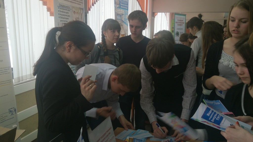 Представители ТУСУР приняли участие вярмарке учебных мест вСеверске, Анжеро-Судженске иНовокузнецке