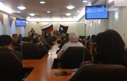 Студенты гуманитарного факультета приняли участие винформационном брифинге, состоявшемся вДуме города Томска