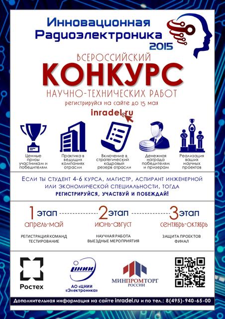 Всероссийский конкурс научно-технических работ «Инновационная радиоэлектроника»