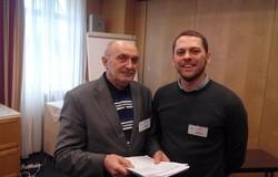 Председатель секции Александр Дмитриев и докладчик Александр Мелкозеров