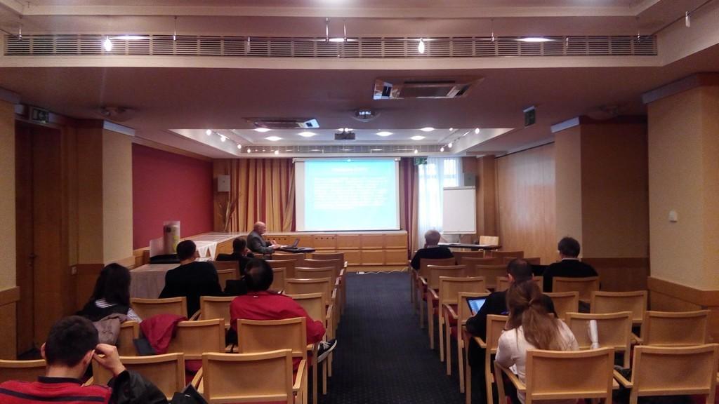 Зал секции конференции в перерыве между заседаниями
