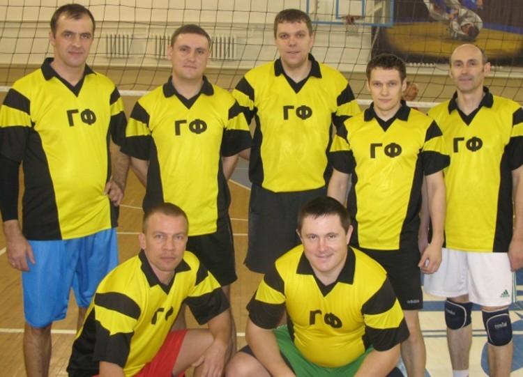 Команда ГФ - 1 место, волейбол, мужчины