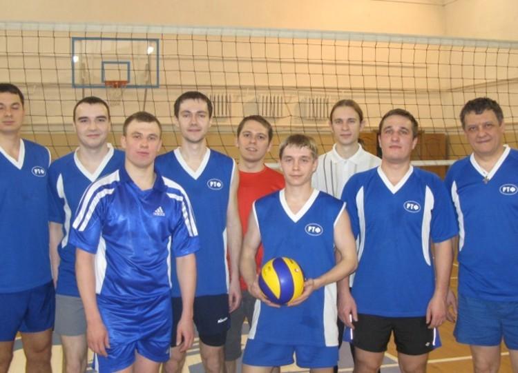 Команда РТФ - 2 место, волейбол, мужчины