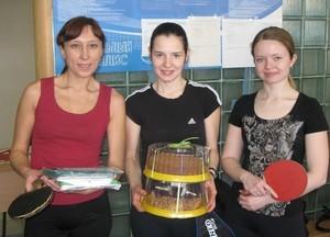 Команда Микран - НИИ СЭС - 1 место, настольный теннис, женщины