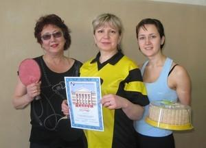 Команда ГФ - 3 место, настольный теннис, женщины
