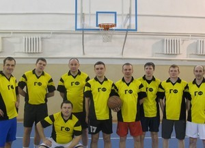 Команда ГФ - 1 место, баскетбол, мужчины