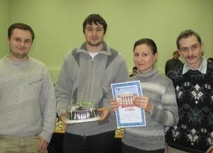 Команда Микран-НИИ СЭС - 3 место, шахматы