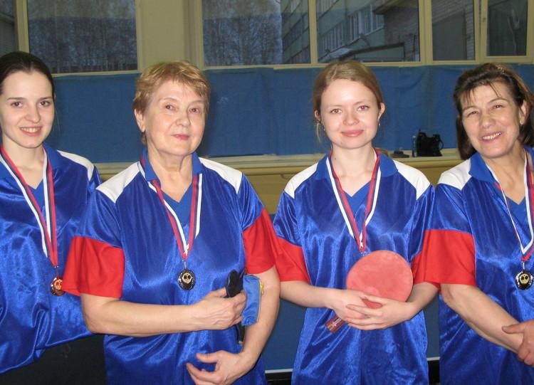 Настольный теннис, женщины, 2 место