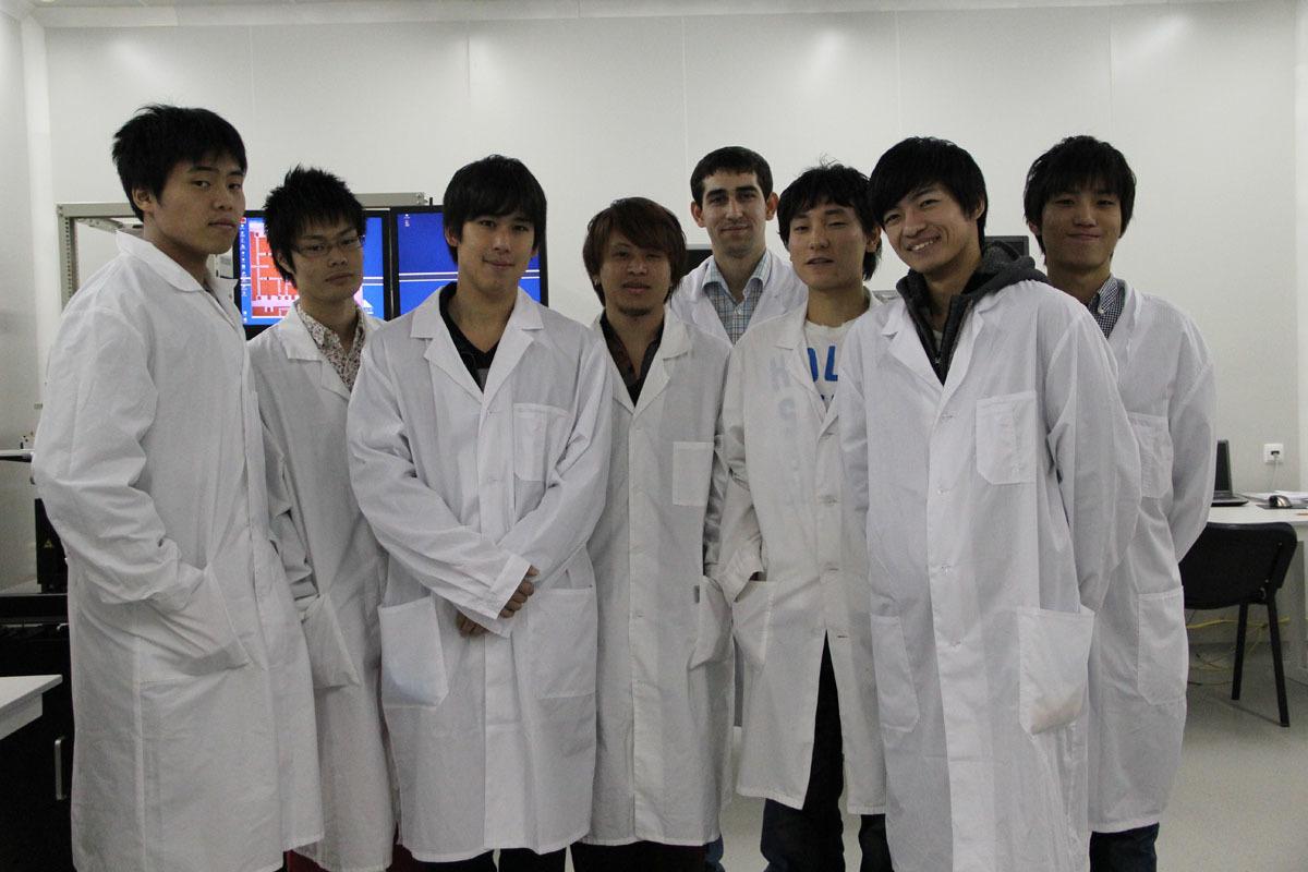 Иностранные студенты из Японии посещают НОЦ