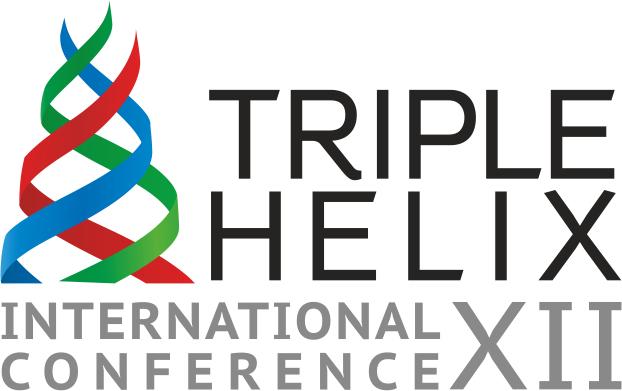 Логотип XII Всемирной конференции тройной спирали, организованной и проведённой ТУСУРом в Томске