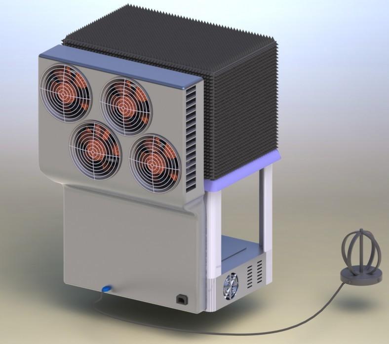 Климатическая экранированная ТЕМ-камера с открытой дверью